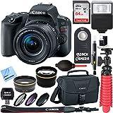 Canon EOS Rebel SL2 Digital SLR Camera + EF-S 18-55mm IS STM Lens Kit + Accessory Bundle 64GB SDXC Memory + DSLR Photo Bag + Wide Angle Lens + 2x Telephoto Lens + Flash + Remote + Tripod & More