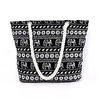 Wewod Large Capacity City Shopper Elephant Pattern Shopping Bag (Elephant)