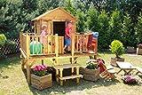 Baumotte Spielhaus Holz - Kinderspielhaus Ernie Stelzenhaus