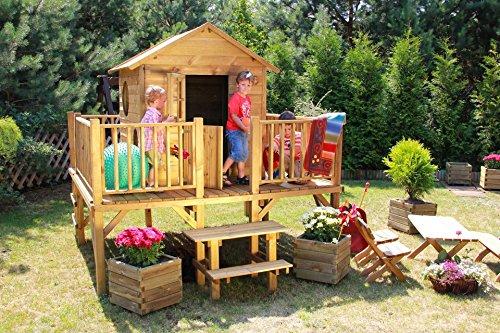 """Baumotte Spielhaus Holz – Kinderspielhaus """"Ernie"""" Stelzenhaus"""
