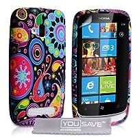 Nokia Lumia 610 Silicone Jellyfish Case - Multicoloured