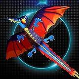 Mcbbigxw | Kids Kite - 3D Drachendrachen Für Kinder Ab 5 Jahren - 120 * 140cm Mit Long Tail Kite 100m Single Line Mit Tail Outdoor Erwachsene Kinder...