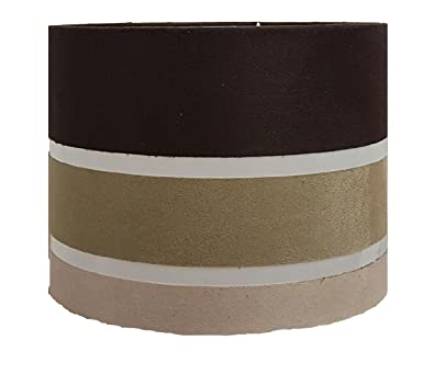11 chocolate stripe drum pendant ceiling table lamp shade 11 chocolate stripe drum pendant ceiling table lamp shade chocolate beige cream amazon lighting mozeypictures Image collections