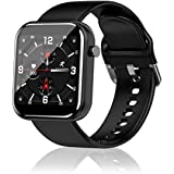 YUNSYE Smart Watch,Fitness Tracker,Touch Screen Smartwatch for iphone Android,Waterproof Fitness Trackers With HR Monitor, Fi