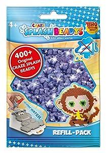 CRAZE- Cuentas de fusibles Fuse Splash BEADYS Recarga-Pack Purpurina púrpura Violeta Craft Water Beads Set 11812, Color