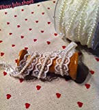 Spitzen und Perlen Trim Band Shabby Chic trimming-15m breit Elfenbeinfarben (Meterware)
