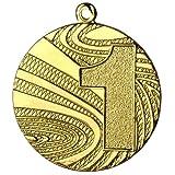 10 Stück Medaille Gold aus Stahl, 40mm Durchmesser und 2 mm Höhe. Schwere Ausführung in guter Qualität. Passend dazu finden Sie in unserem Shop verschiedenfarbige Bänder zur Selbstmontage.