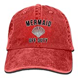 Mermaid Off Duty With Fish Tail Retro Cowboy Hat Sports Adjustable Denim Hat Baseball Caps ForAdult