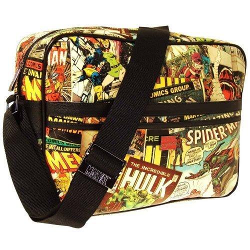 MarvelRetro Messenger Bag All Over Print Graphic -...