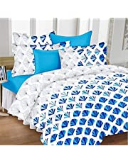 HUESLAND by Ahmedabad Cotton Comfort Cotton Bedsheet with 2 Pillow Covers - King Size