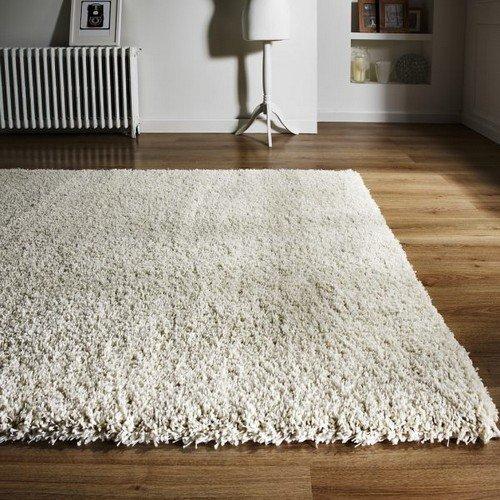 Flair Rugs Athena Teppich, zottelig (80cm x 150cm) (Elfenbein) (Elfenbein-polypropylen-teppich)
