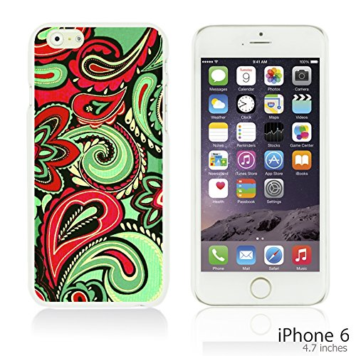 OBiDi - Fabric Pattern Hard Back Case / Housse pour Apple iPhone 6 / 6S (4.7 inch)Smartphone - Red And Green Paisley Red And Green Paisley