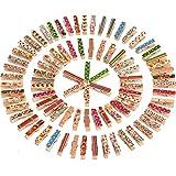 Mini Craft Pegs Holz Wäscheklammern, Gemischte Farben, 100 Stück