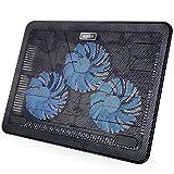 AUKEY Laptop Kühler 17 Zoll Notebook Cooler Ständer Cooling Pad mit USB Port und 3 LED Lüftern...