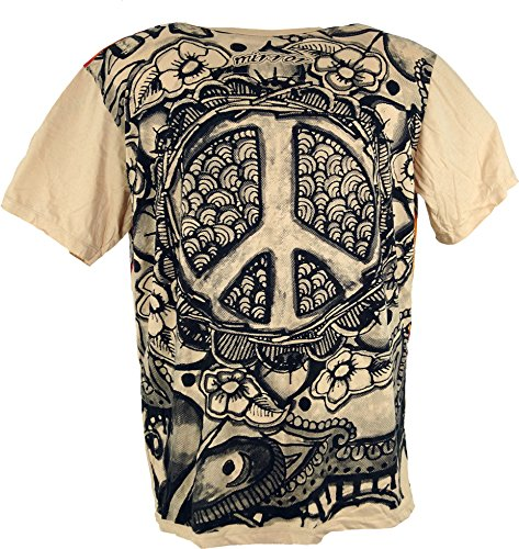 Mirror T-Shirt Peace / Sure T-Shirts Beige