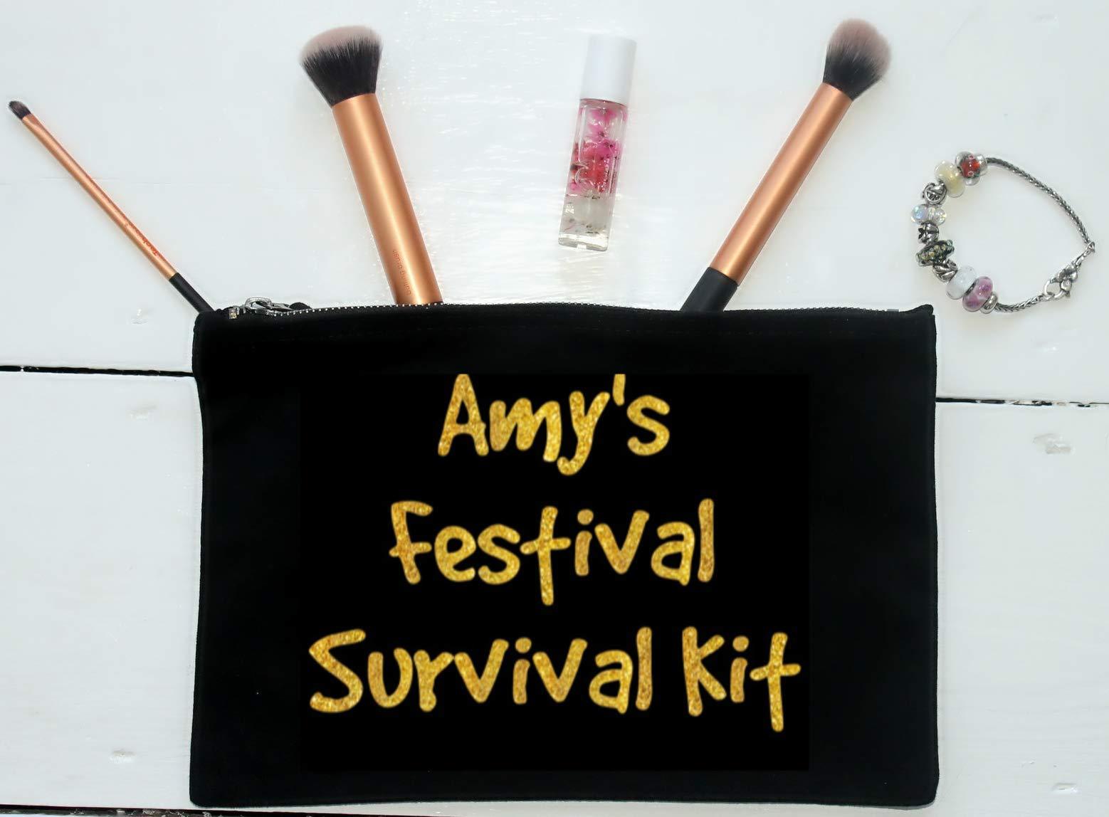 Festival Survival Kit, Personalised Make Up Bag