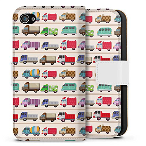 Apple iPhone X Silikon Hülle Case Schutzhülle Fahrzeug Auto Trucks LKW Bunt Sideflip Tasche weiß