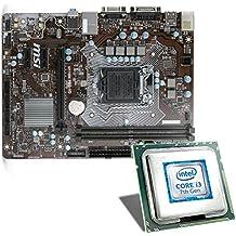 Intel Core i3-7100 / MSI H110M Pro-VD Mainboard Bundle | CSL PC Aufrüstkit | Intel Core i3-7100 2x 3900 MHz, Intel HD Graphics 630, GigLAN, 7.1 Sound, USB 3.1 | Aufrüstset | PC Tuning Kit