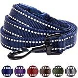Blueberry Pet Leinen für Hunde 2 cm by 150 cm Länge 3M Reflektierende Strapazierfähige Hundeleine in Mitternachts-Marineblau, M, Passender Hundehalsband erhältlich separate