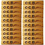 SCORIA Gold OCB King Size Rolling Paper Pack Of 20 Booklet (640) Leaves Assorted Hookah Flavor