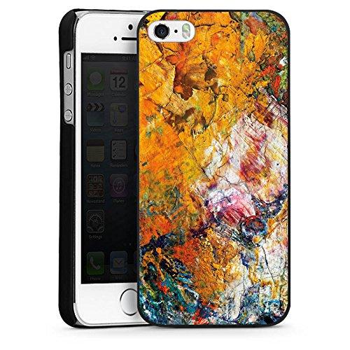 Apple iPhone 6 Housse Étui Protection Coque Peinture à l'huile Peinture Motif CasDur noir