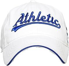 Sportigo Solid Athletic 3D Cricket Cap-White/Blue