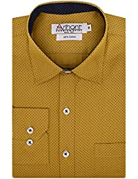 Arihant Men's Long Sleeves Regular Fit 100% Cotton Partywear Partywear Formal Shirt