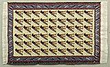 Miniatur Teppich, reines Polyester für Krippe, Puppenhaus, beige blau. 5x9cm