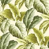 Grandeco Botanisch Tropische Blätter Muster Tapete Baum Blatt Texturiert Motiv - Grün BA2401