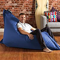 BAZAAR BAG ® - Giant Beanbag BLUE - Indoor & Outdoor Bean Bag - MASSIVE 180x140cm - GREAT for Garden