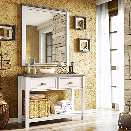 Pharao24 Dielenmöbel Set in Weiß Landhaus Design
