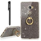 Huawei Mate S Hülle,BtDuck Slim Matt Silikon Hülle mit Metall Ring Handyhalterung Auto Magnet Ständer Bumper Case Schutzhülle