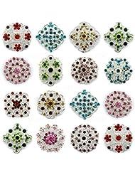 12 piezas MIX con diseño de diamantes de imitación broche con forma de PIN con una tira de brillantes JOBLOT Direct Hardware brillantes diseño de ramo de boda DIY
