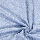 Fabulous Fabrics Pannesamt Babyblau – Weicher SAMT Stoff zum Nähen von Kleider, Oberteile, Tücher und Tischdecke - Pannesamt Dekostoff & Bekleidungsstof- Meterware ab 0,5m