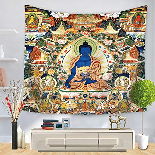 jzxjzx Buddha Wandteppich dekorative Wandteppich 8 75 * 90
