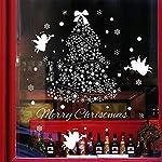 Tuopuda® Natale Vetrofanie Display Rimovibile Adesivi Murali Fai da te Finestra Decorazione Vetrina Wallpaper fiocco di neve Angeli (Angeli)