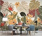(250X200CM), Alte Zeitung 3D tapete - Nordic tropische Pflanze Bananenblatt Jahrgang - Wallpaper Poster Wanddekoration von Bestwind
