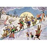 """El porche farires- calendario de adviento–Racey ayuda a """"Los animales deslizante on a snowy Hill"""""""