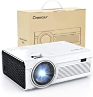 Projector, Mini LED Video Projector 1080P Supported, Crosstour HD Portable Projector with HDMI and AV Cable, Work with TV Box