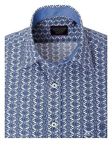 CASAMODA Herren Hemd Casual Fit 100% Baumwolle Blau