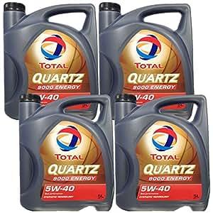 Total Quartz 9000Energy 5W-404x 5L (20L) d'huile moteur