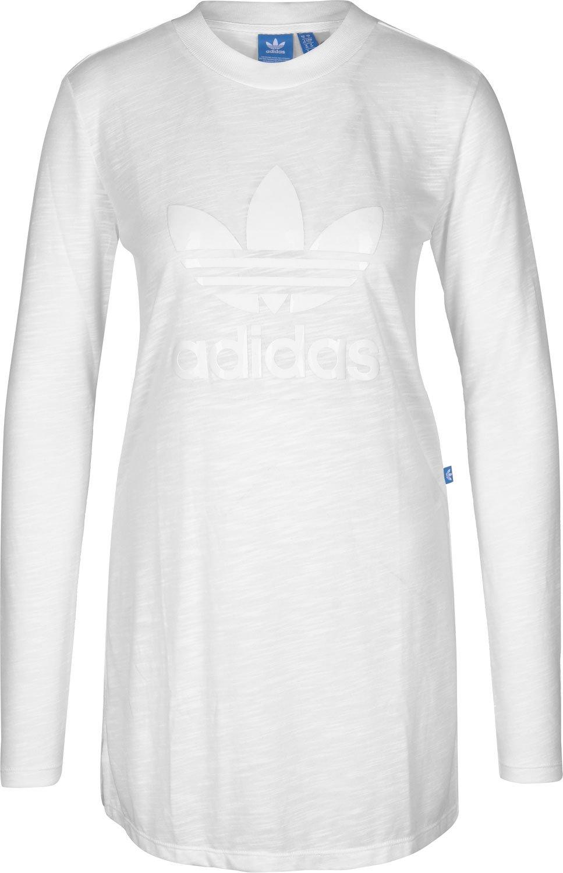Adidas Ls, Maglietta Manica Lunga Donna, Bianco, 32