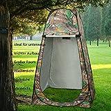 Outdoor ultraleicht Pop Up Zelt Duschzelt Trekkingszelt Schnell-Trocken, Qulista Campingtoilette Toilettenzelte für unterwegs privat blickdicht inklusive Tasche (Camouflage 2)
