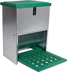VOSS.farming Geflügelfutterautomat Feedomatic mit Pedalzufuhr, bis zu 12kg Futter, Hühner,Puten, Gänse, Enten