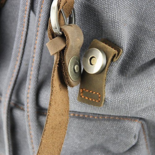 FakeFace Neu Rucksack Schultasche Retro Schulrucksack Damen Herren Backpack Daypacks Multifunktionsrucksack für Schul Studenten Sport Outdoor Reisen Grau