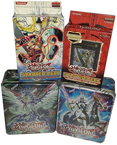 Yu-Gi-Oh! Ilumiritter und Galaxieaugen-Photonendrache 2er Set sowie die 2 Starter Decks Dawn of the XYZ und XYZ Symphonie