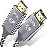 Cavo HDMI 4k Ultra HD 0.9m,Cavo HDMI 2.0 alta velocità Supporta Ethernet 3D,4K e ritorno audio-2160p Full HD 1080p 3D,Blu-Ray