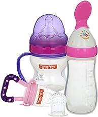 Kidzvilla Fisher Price Newborn Feeding Starter Kit (Pink - Purple)