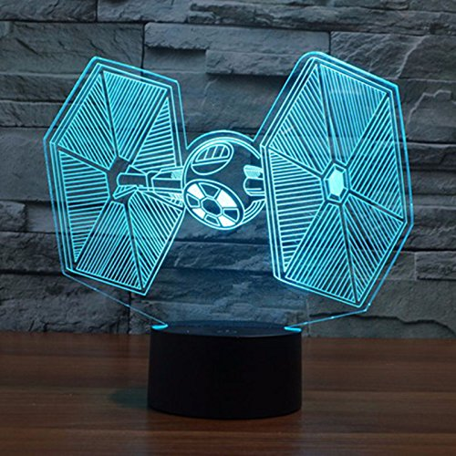 (Tie Fighter 3D USB Illusion Tisch Lampe/Nachtlicht)