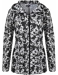 Señoras lluvia Parka Mac para mujer Fishtail Festival chaqueta capa de estampados tamaños 81012141618202224